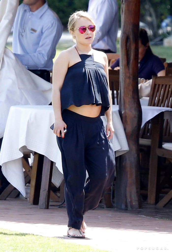 Hayden Panettiere Bares Her Baby Bump in a Crop Top