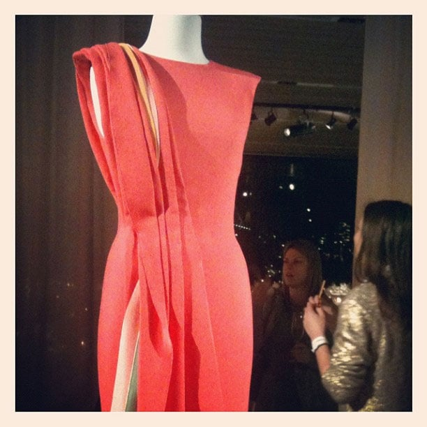 Carl Kapp's draped vision in watermelon got our attention at the Woolmark awards.