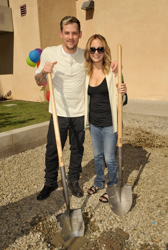Joel Madden and Nicole Richie attended the groundbreaking ceremony for Beyond Shelter Playground on behalf of the Richie-Madden Foundation at Beyond Shelter in October 2009.