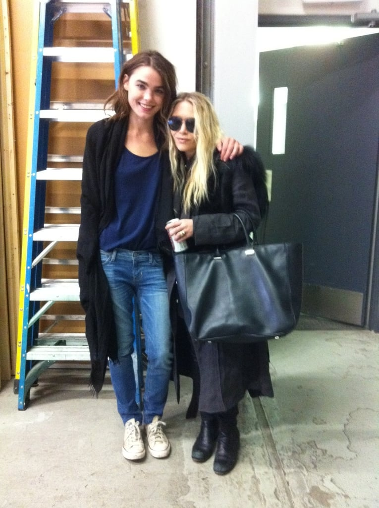 Bambi Northwood-Blythe worked with an Olsen twin (Mary-Kate?).