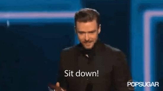 When Justin Timberlake Told Everyone to Sit Down