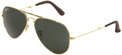 Ray-Ban - 18K Gold Folding Aviator 0RB3479 58 (Arista Polar Green) - Eyewear