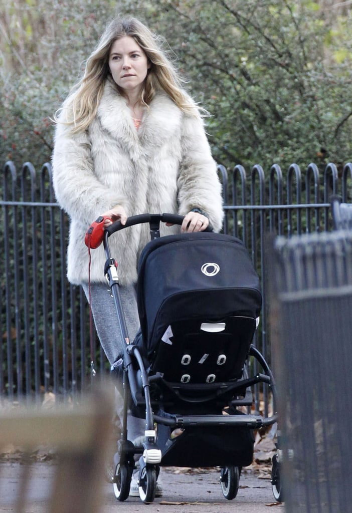 Sienna Miller stepped out with her daughter in London.