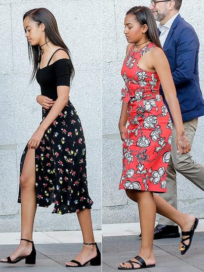 Sasha and Malia Obama Continue to Give Us Print Envy in Madrid