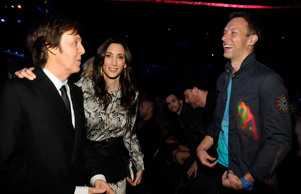 Chris Martin said hello to his pals Nancy Shevell and Paul McCartney.