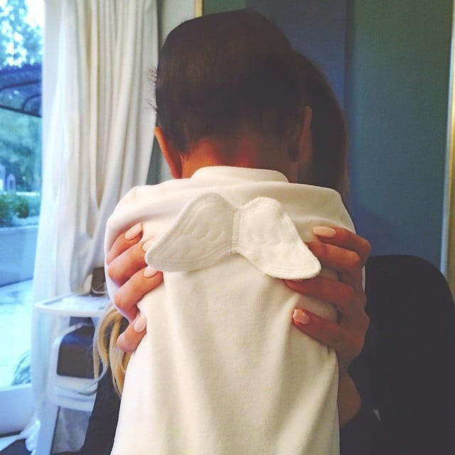 North West struck an angelic pose for her aunt Kendall Jenner.  Source: Instagram user kendalljenner