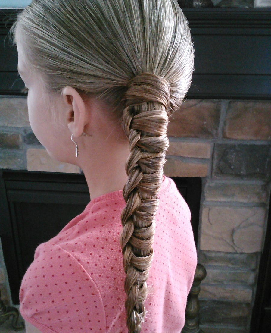 Chinese Staircase Braided Ponytail