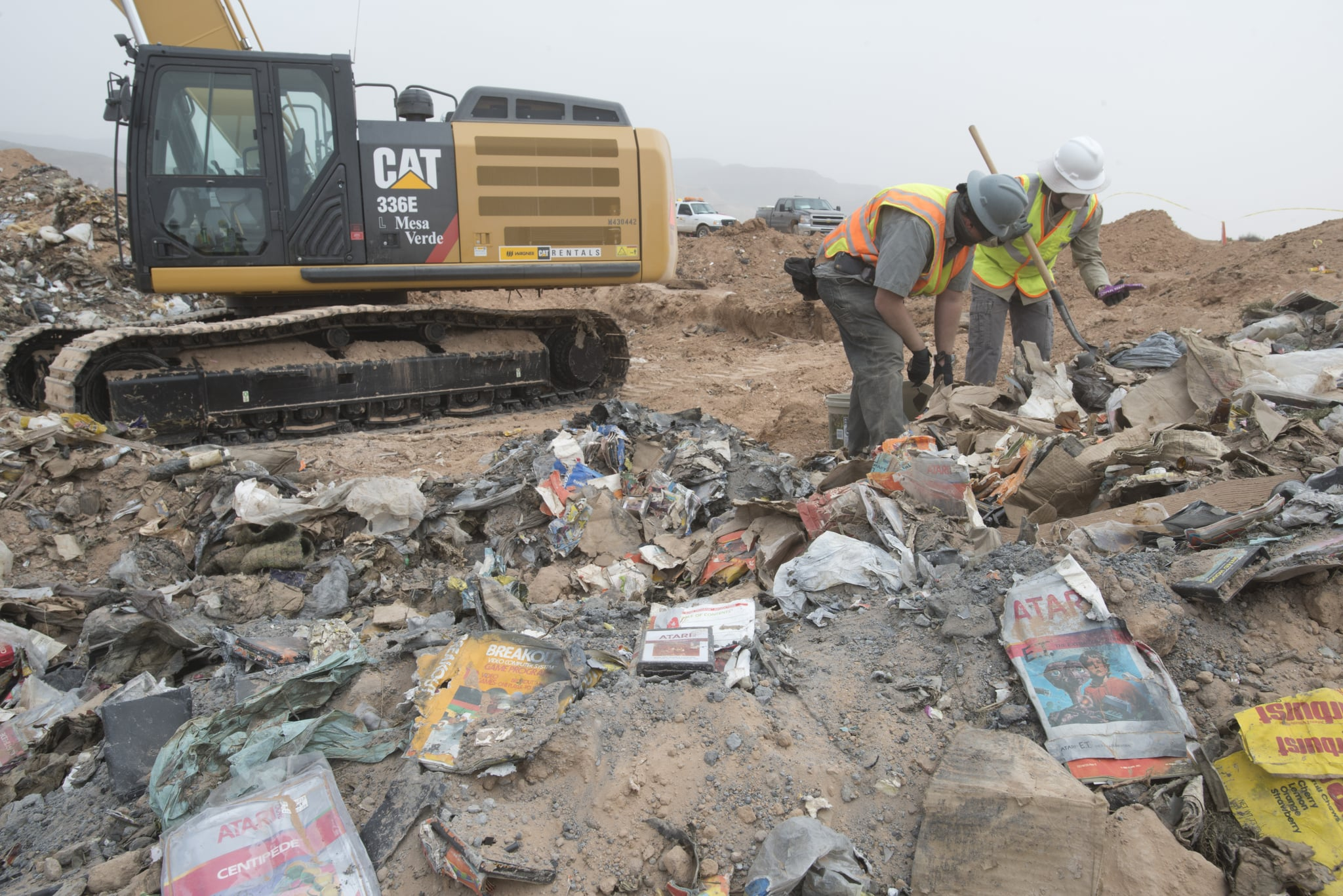 It's a little different from dinosaur bone. Archaeologists searched through the landfill for the Atari buried treasure.  Source: Microsoft