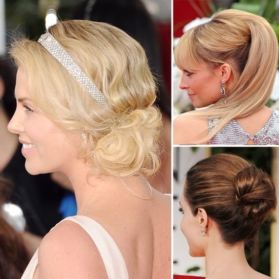 Golden Globes Hair From the Back
