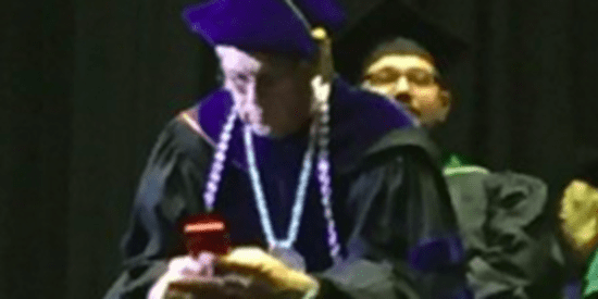College Chancellor Decides His Cell Phone Is More Important Than Graduation