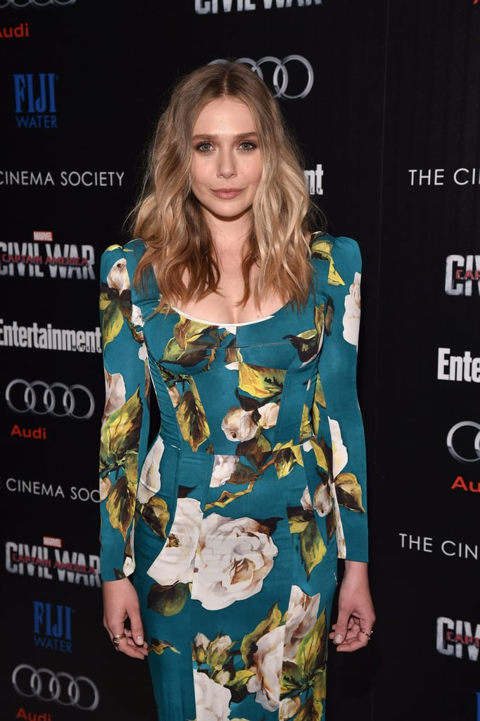 Elizabeth Stood Out in the Crowd Wearing a Floral Dolce & Gabbana Design