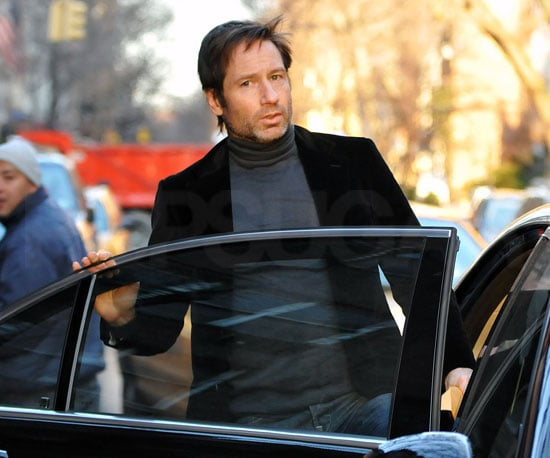 Slide Photo of David Duchovny In NYC