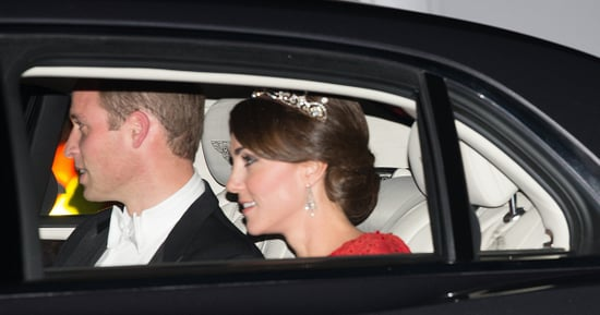 Duchess Kate Stuns In Red Gown And Familiar Tiara At State Dinner