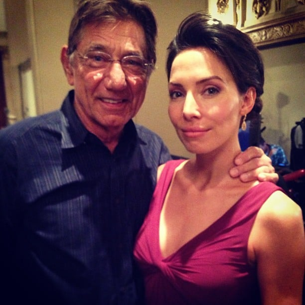 """Whitney Cummings shared this photo with the caption, """"Joe Namath just snapped my neck. I'm in love."""" Source: Instagram user whitneyacummings"""