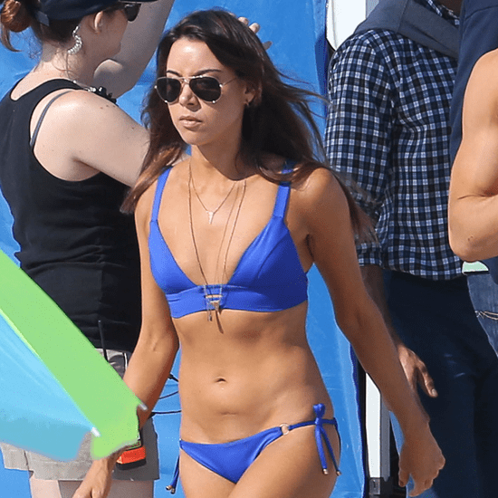 Aubrey Plaza in a Bikini on the Set of Dirty Grandpa
