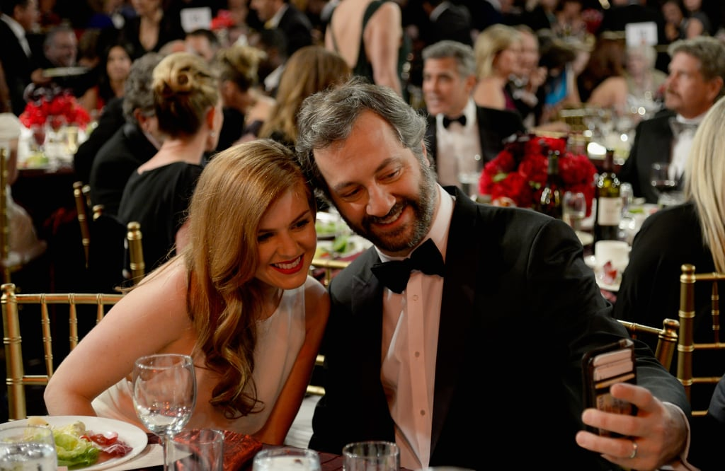 Isla Fisher posed for a selfie with Judd Apatow.