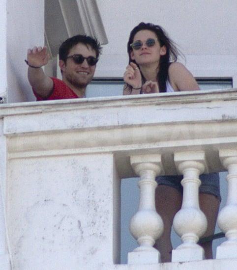 Pictures of Twilight Couple Robert Pattinson and Kristen Stewart On Balcony In Rio De Janeiro Brazil  Filming Breaking Dawn
