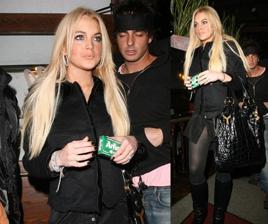 Lohan Gets A Head Start On Her New Year's Resolutions