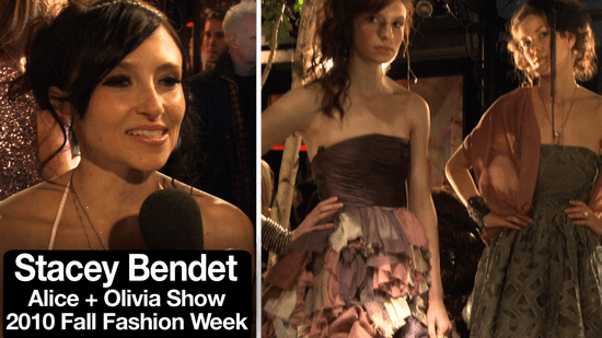 Alice + Olivia Interview with Designer Stacey Bendet at Fashion Week