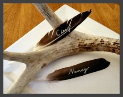 Cool Idea: Duck Wing Quill Place Cards
