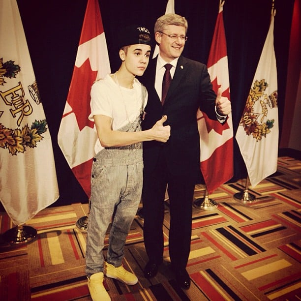 Justin Bieber wore overalls to meet the prime minister of Canada. Source: Instagram user justinbieber