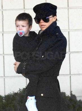 Victoria Beckham With Son Cruz Beckham