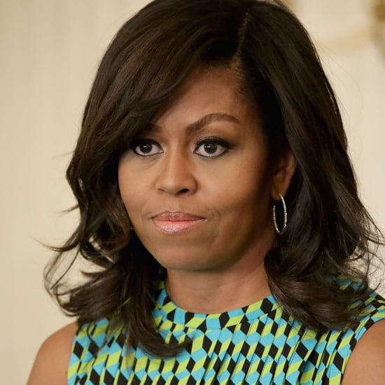 Michelle Obama Green and Blue Printed Dress May 2016
