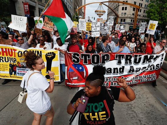Republican National Convention Draws Opposing But Peaceful Protests