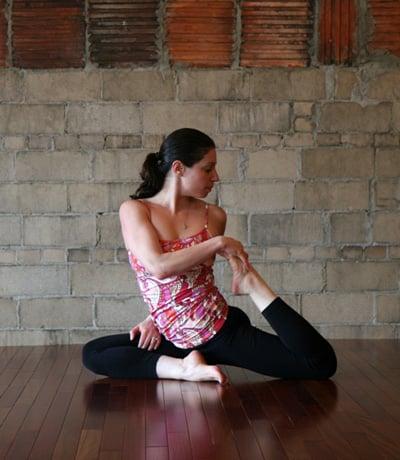Yoga Pose of the Week:  Pigeon Twist
