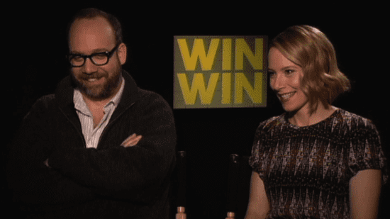 Video of Win Win's Paul Giamatti and Amy Ryan on Jersey Accents, The Office Finale, and George Clooney's Humor