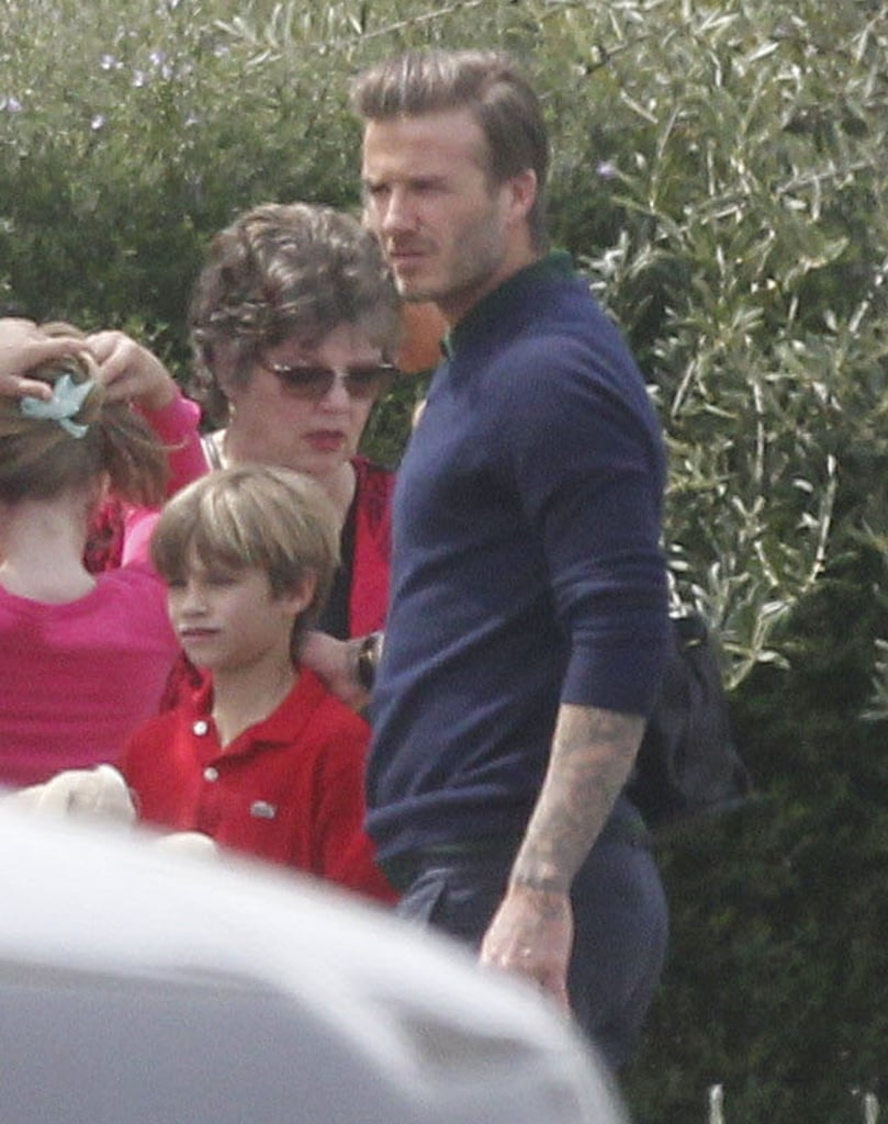 David Beckham during an outing with his family for Easter.