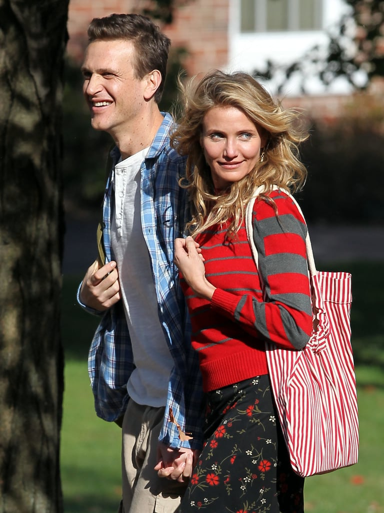 Slimmed-Down Jason Segel Joins Cameron Diaz on the Sex Tape Set