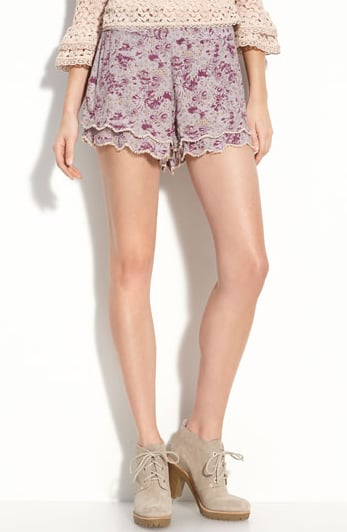 The double tiered detail give these shorts an extra-feminine flair.  Free People Printed Floral Shorts ($78)