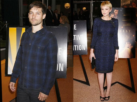 Photos of Carey Mulligan and Tobey Maguire at an LA Screening of The Greatest 2010-03-26 16:30:44