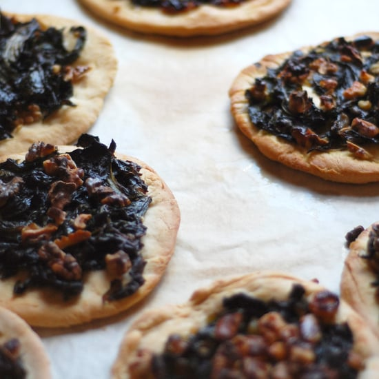 Spanish Pizza With Swiss Chard and Walnuts