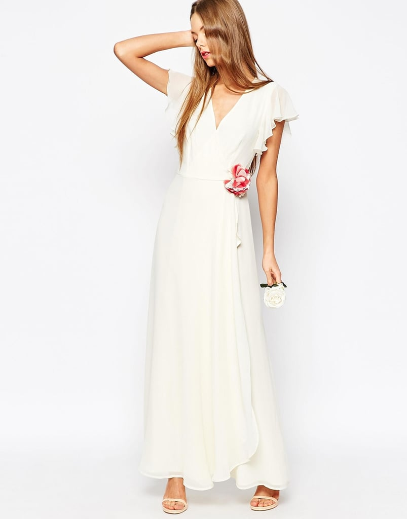ASOS Corsage Wrap Maxi Dress ($119)