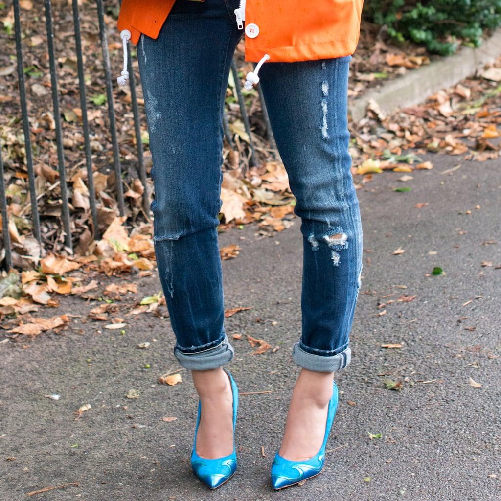 Как подворачивают джинсы