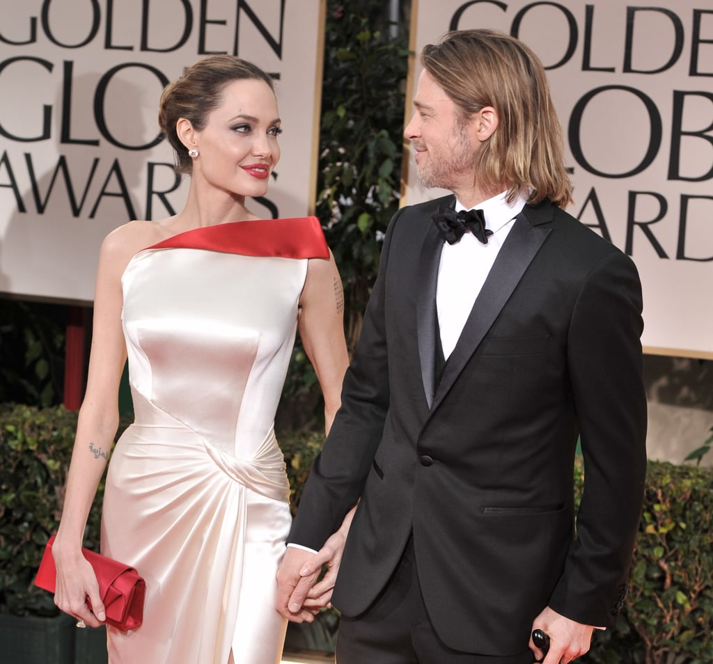 Brad Pitt and Angelina Jolie sweetly held hands in 2012.