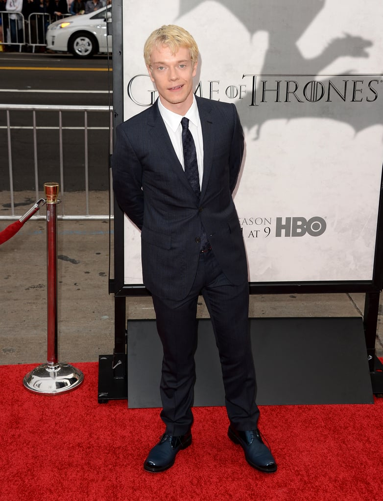 Alfie Allen showed off his blond 'do.