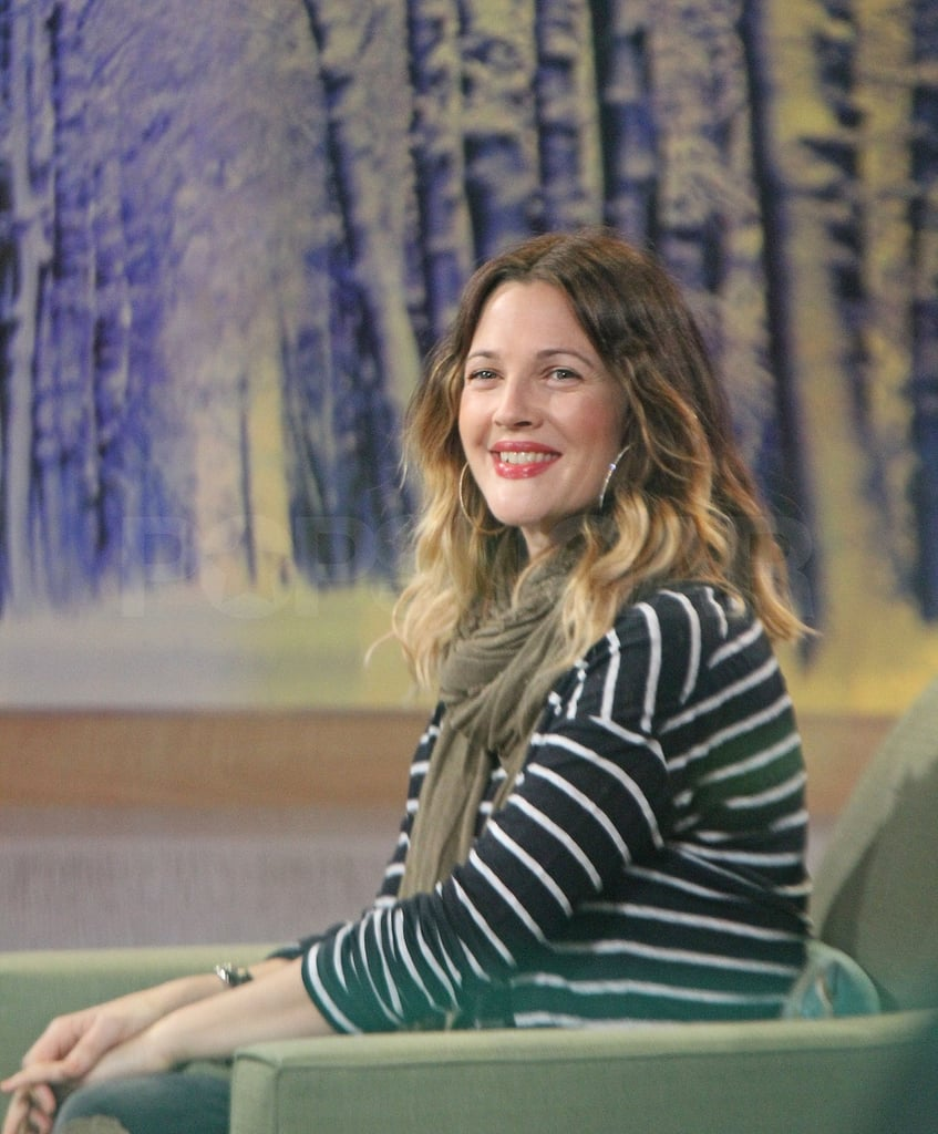 Drew is on the East Coast promoting her new film, Big Miracle.