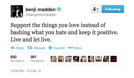 Benji Madden has a secure back-up plan if his music career ever falters: motivational speaker.