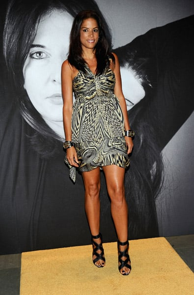 Veronica Webb was the only one in a printed Givenchy from Spring '10.