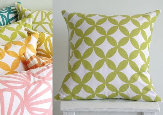 Etsy Find: Hand-Printed Pillow Cover
