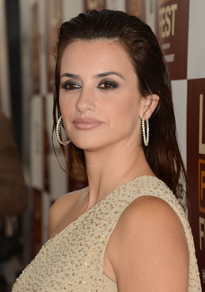 Penelope Cruz wore a one-shouldered gown to the premiere of To Rome With Love in LA.