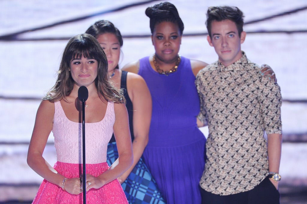 In 2013, Lea Michele took the stage with her Glee co-stars and dedicated her win to the late Cory Monteith.