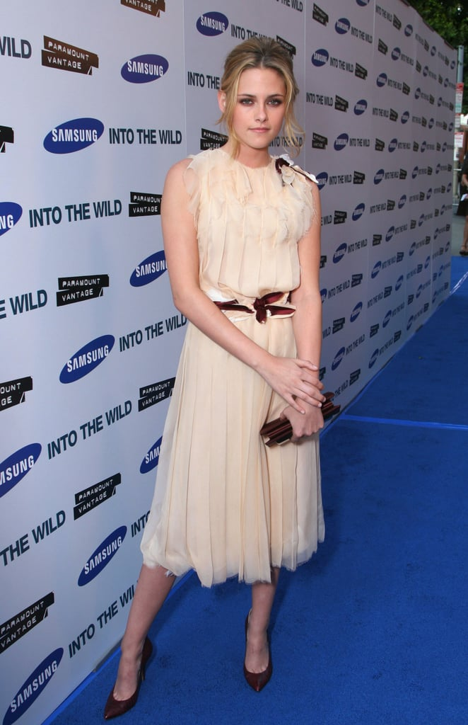 Kristen Stewart looked chic as she arrived at the LA premiere of Into the Wild in September 2007.