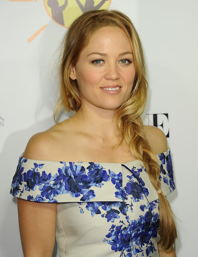 A slight curl to the loose pieces around Erika Christensen's face made her braid that much more elegant.