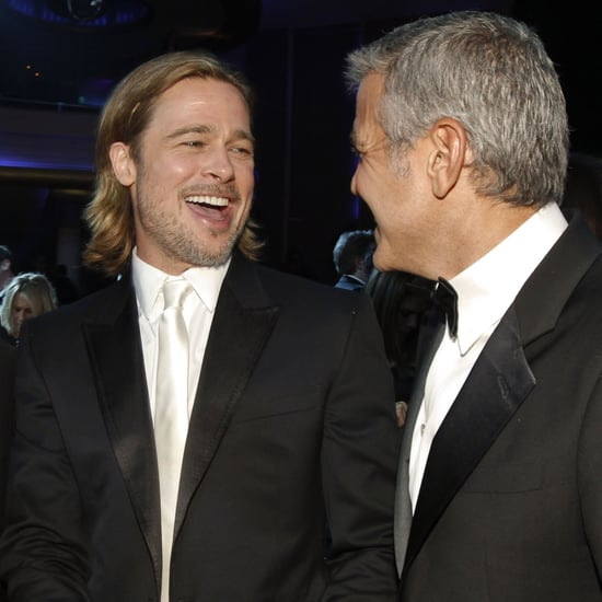 Brad Pitt and George Clooney Pictures at Critics' Choice