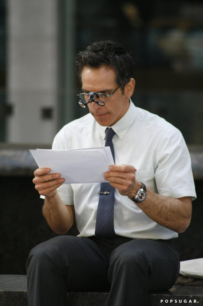 Ben Stiller acted out scenes from his new film.