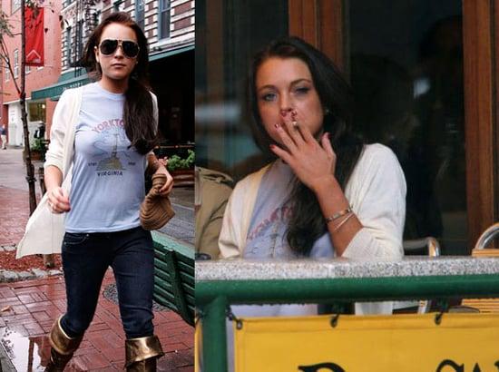Lindsay Lohan Back in the Hospital
